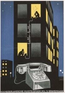 Jan Lavies (1902-2005) -J. Lavies/Huistelefoon/HGA- Postkaart
