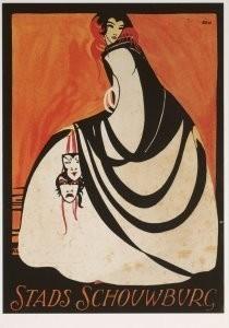Rie Cramer (1887-1977) -R. Cramer/omslag prog.boek/Br- Postkaart