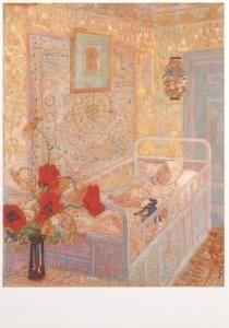 Jan Sluijters (1881-1957) -Kinderslaapkamer, 1910- Postkaart