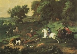 Nicolaes Maes (1634-1693) -Koning Stadhouder Willem III op Zwijnejacht- Postkaart