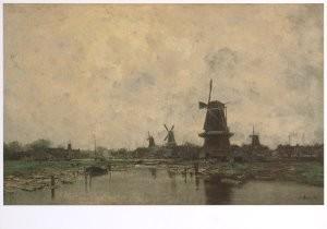 Jacob Maris (1837-1899) -J.Maris/Vijf molens/CMU- Postkaart