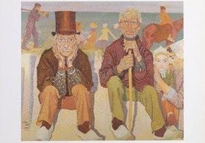 Jan Th.Toorop (1858-1928) -Dorpelwachters- Postkaart