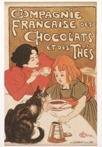 Theophile-Alexandre Steinlen -Compagnie Francaise des Chocolats et des Thes,1895- Postkaart