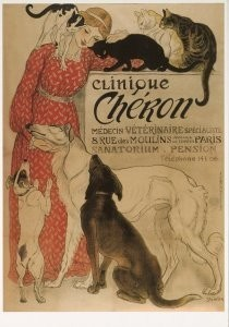 Theophile-Alexandre Steinlen -Clinique Cheron, 1905- Postkaart