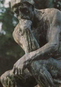Auguste Rodin (1840-1917) -Le Penseur- Postkaart