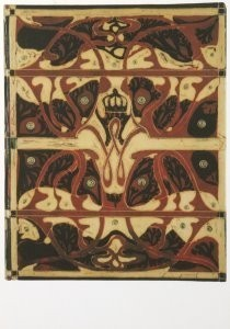 C.A. Lion Cachet (1864-1945) -L.Cachet/Boekbl,Wilhelnina/KHA- Postkaart