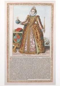 Christoffel van Sichem 1581-16-C.v.Sichem1/Kon.Elizabeth1/KHA- Postkaart