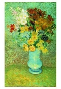 Vincent van Gogh (1853-1890) -Bloemen in bl.vaas- Postkaart