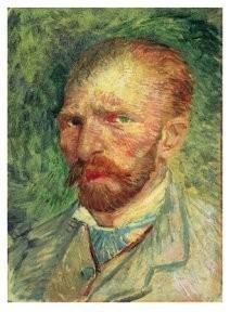 Vincent van Gogh (1853-1890) -Zelfportret 3,4- Postkaart