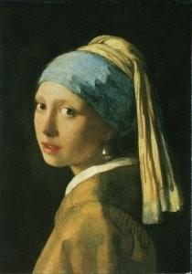 Johannes Vermeer (1632-1675) -Head of a girl (detail), c. 1664- Postkaart