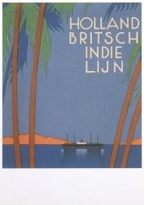 Jan Lavies (1902-2005) -Jan Lavies/Holl.-Britsch line- Postkaart