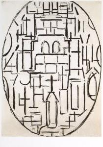 Mondriaan (1872-1944)Mondrian -Kerk te Domburg- Postkaart