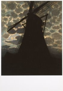 Piet Mondriaan (1872-1944) -Molen bij avond- Postkaart