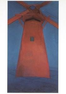 Mondriaan (1872-1944)Mondrian -De rode molen- Postkaart