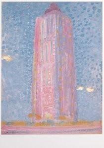 Mondriaan (1872-1944)Mondrian -Vuurtoren bij Westkapelle- Postkaart