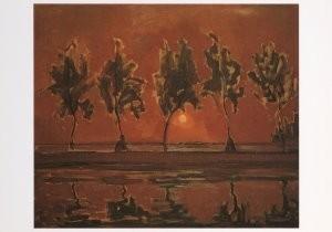 Mondriaan (1872-1944)Mondrian -Bomen aan het Ge- Postkaart