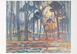 Mondriaan (1872-1944)Mondrian -Bos bij Oele- Postkaart