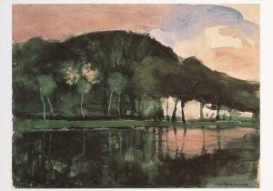 Mondriaan (1872-1944)Mondrian -Aan de Amstel- Postkaart