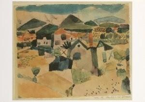 Paul Klee (1879-1940) -Uitzicht op St.Germain- Postkaart
