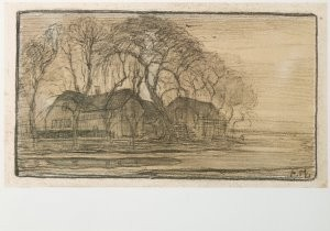 Mondriaan (1872-1944)Mondrian -Boerderij, Duivendrecht- Postkaart