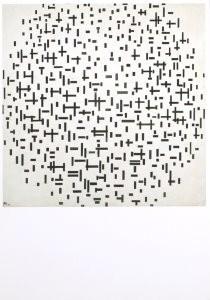Piet Mondriaan (1872-1944) -Compositie in zwart en wit- Postkaart