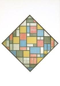 Piet Mondriaan (1872-1944) -Compositie in ruitvorm- Postkaart