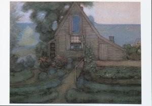 Piet Mondriaan (1872-1944) -Huis in Abcoude, 1898/1900- Postkaart