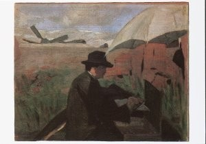 Piet Mondriaan (1872-1944) -Mondriaan/ Kunstenaar / HGM- Postkaart