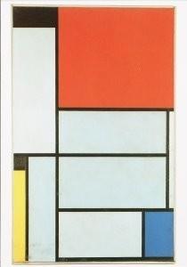 Mondriaan (1872-1944)Mondrian -Tableau I, 1921- Postkaart
