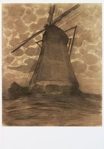 Piet Mondriaan (1872-1944) -Molen bij avond II- Postkaart