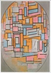 Mondriaan (1872-1944)Mondrian -Mondriaan/Comp.ovaal/HGM- Postkaart