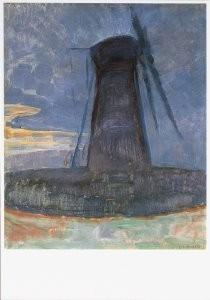 Mondriaan (1872-1944)Mondrian -Molen bij Domburg, 1909- Postkaart