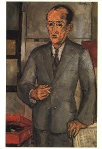 Mondriaan (1872-1944)Mondrian -G.Hordijk/Piet Mondriaan postret- Postkaart