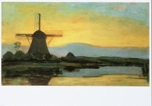Piet Mondriaan (1872-1944) -Molen bij avond, 1907- Postkaart