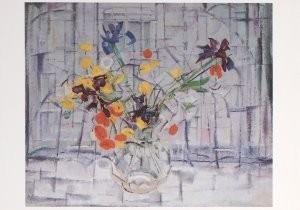 Jan Sluijters (1881-1957) -Bloemen in een vensterbank- Postkaart