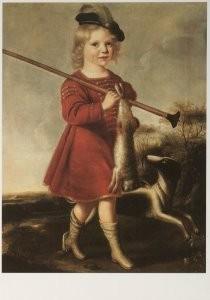 Gillis G. de Bergh (1590-1669)-G.G.d.Berg/Onbekende jongen/SZ- Postkaart