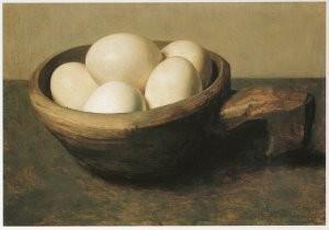 Floris Verster (1861-1927) -Nap met eieren- Postkaart