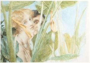 Sir L.Alma-Tadema(1836-1912) -In volle schoonheih, opus CCCCIX, 1911- Postkaart