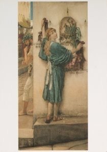 Sir L.Alma-Tadema(1836-1912) -Een straataltaar- Postkaart