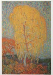 Leo Gestel (1881-1941) -Herfstboom, 1910-11- Postkaart