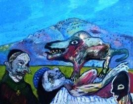 Lucebert (1924-1994) -Droom van Apollinaire- Postkaart