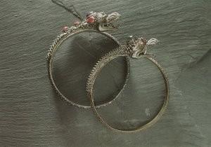 Anoniem, -Zilveren armband+sierstene/TMA- Postkaart