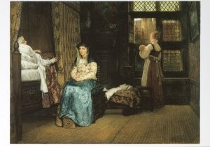 Sir L.Alma-Tadema(1836-1912) -Een zeventiende-eeuwse kraamkamer, opus LXVIII, 18- Postkaart