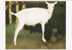 Jan Mankes (1889-1920) -Jonge witte geit, 1914- Postkaart
