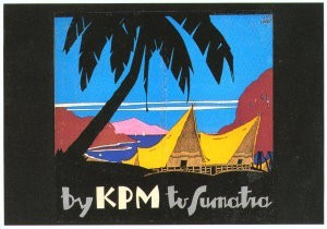 Jan Lavies (1902-2005) -Kon. Pakketvaart- Postkaart