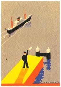 Jan Lavies (1902-2005) -Omslag afvaartlijst- Postkaart