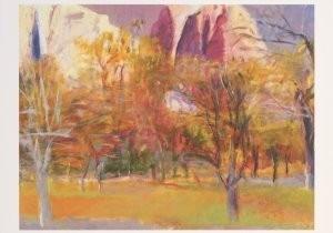 Wolf Kahn (1927) -Kahn, W./Yosemite Valley- Postkaart