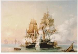 A. P. Bogoljubov (1824-1896) -Verovering van het Zweedse fregat 'Venus' door de- Postkaart