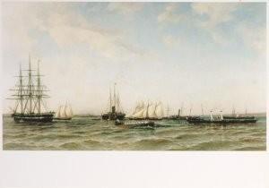 A. K. Beggrov (1841-1914) -De Postjachten 'Djerzjava' en Alexandria' op de kl- Postkaart