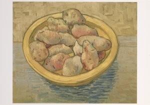 Vincent van Gogh (1853-1890) -Stilleven met aardappelen in gele bak - Still life- Postkaart